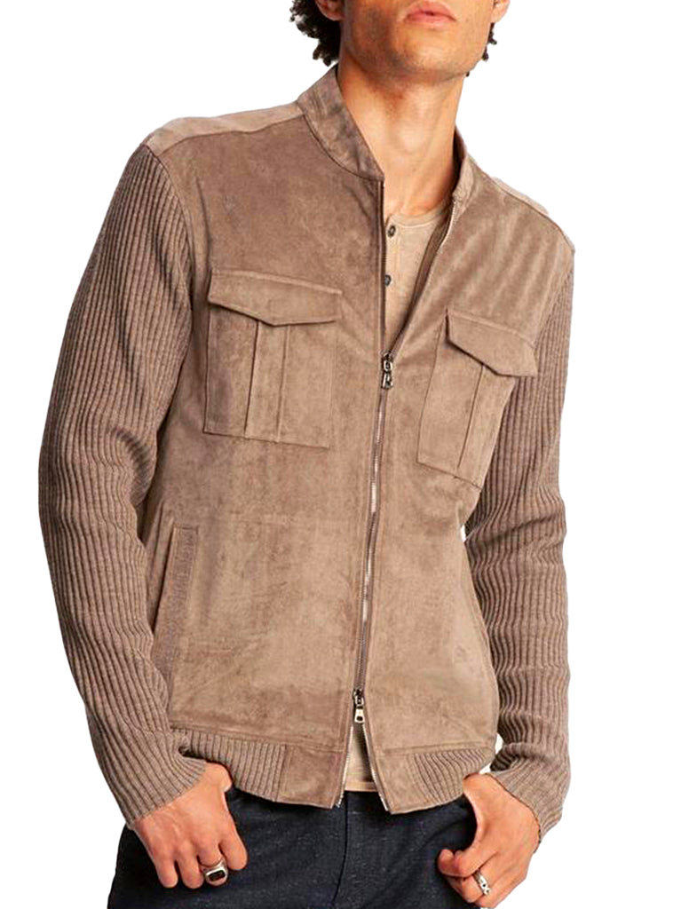 SUEDE BOMBER - JOHN VARVATOS COLLECTION