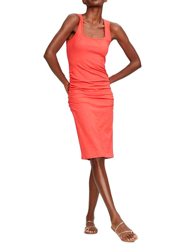 Sonya Square Neck Shirred Dress - MICHAEL STARS