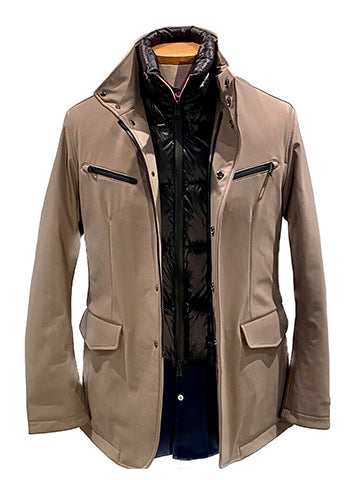HOODED TECH OVERCOAT - MONTECORE
