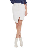 Tomcat Slide Mini Fray Skirt - MOTHER