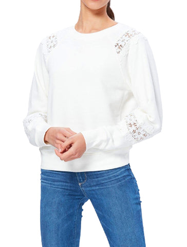 Daytona Sweatshirt With Lace - PAIGE