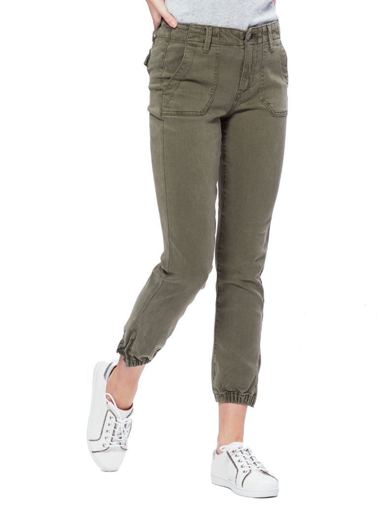 Mayslie Jogger in Vintage Ivy Green - PAIGE