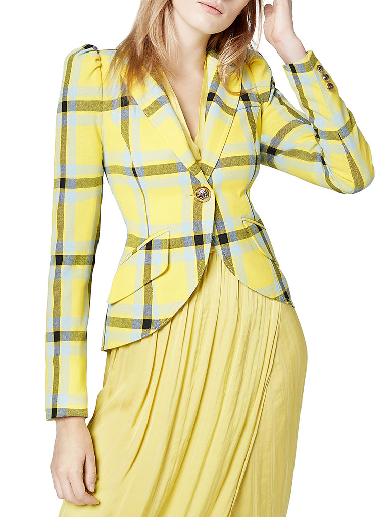 Pouf Sleeve One Button Blazer - SMYTHE