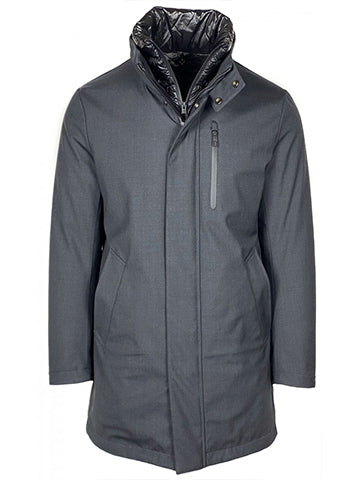 TECHWOOL JACKET WITH REMOVABLE BIB - MONTECORE