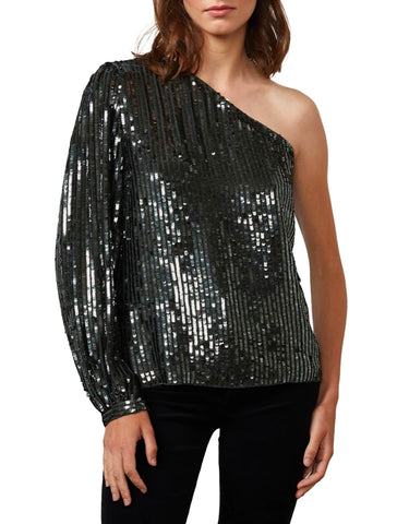 Sequin One Shoulder Top - VELVET