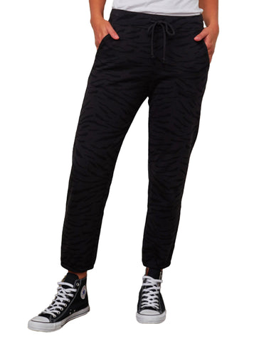 Zebra Fleece Pant - VELVET