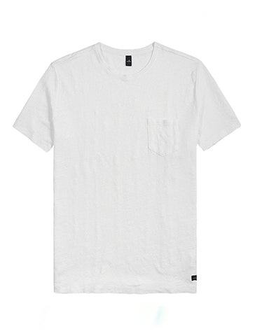 REESE LINEN TEE - WAHTS