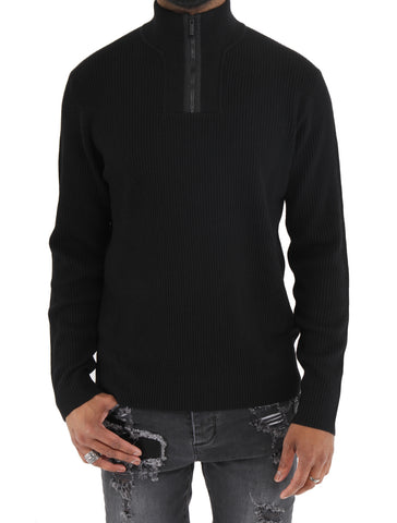 Half Zip Knit Sweater - Z ZEGNA