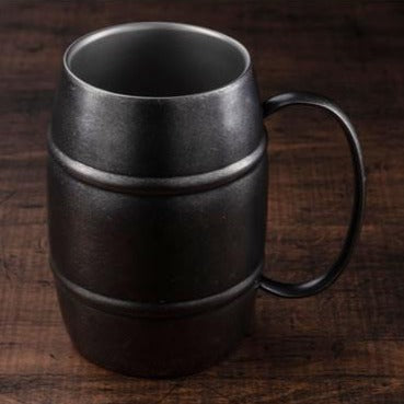BLACK VINTAGE DW Barrel Mug 420ml with Handle