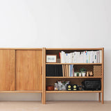 Dinsor Bookshelf - 3 layer inside with back board (Without Slide Door)