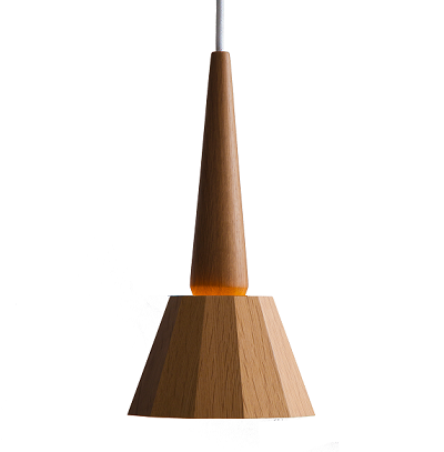 moare - tipo Pendant Light (Oak Base)