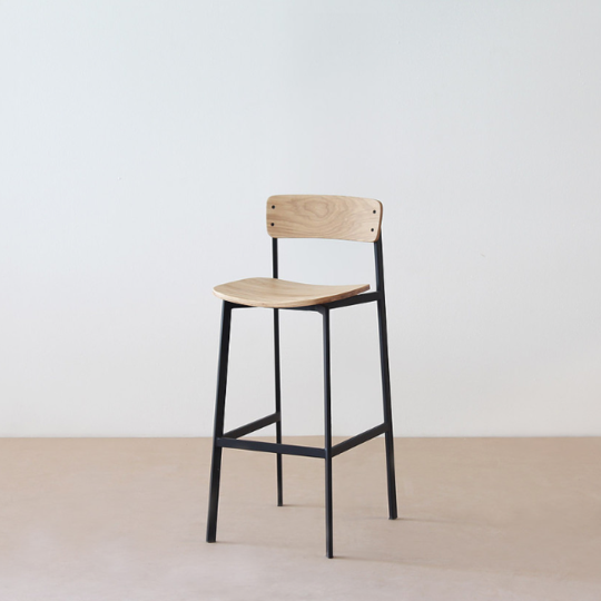 Flo - Angle Stool with back rest