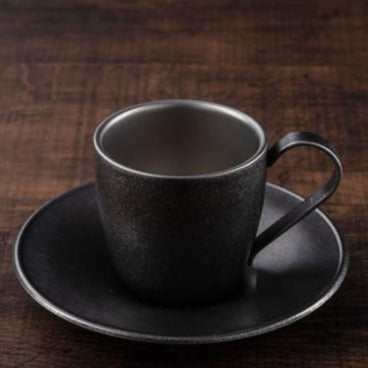 BLACK VINTAGE DW Cup & Saucer 100ml