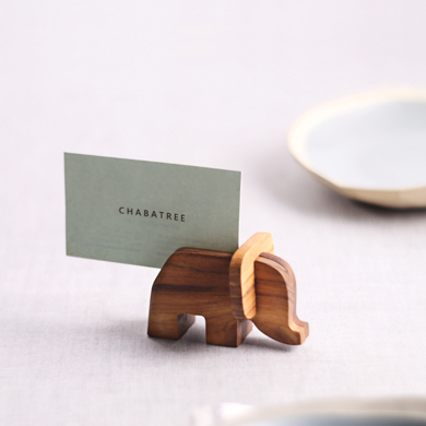 Postcard Holder Elephant S (PC009)