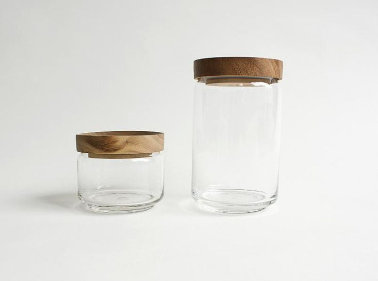 DIMPLE GLASS JAR 1000 CC.