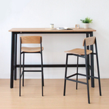 Angle Stool with Back Rest