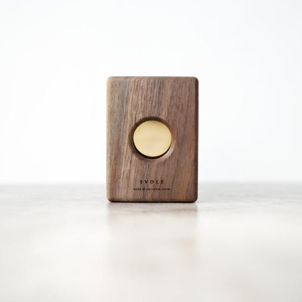 SVOLE - Walnut Brass Wallet