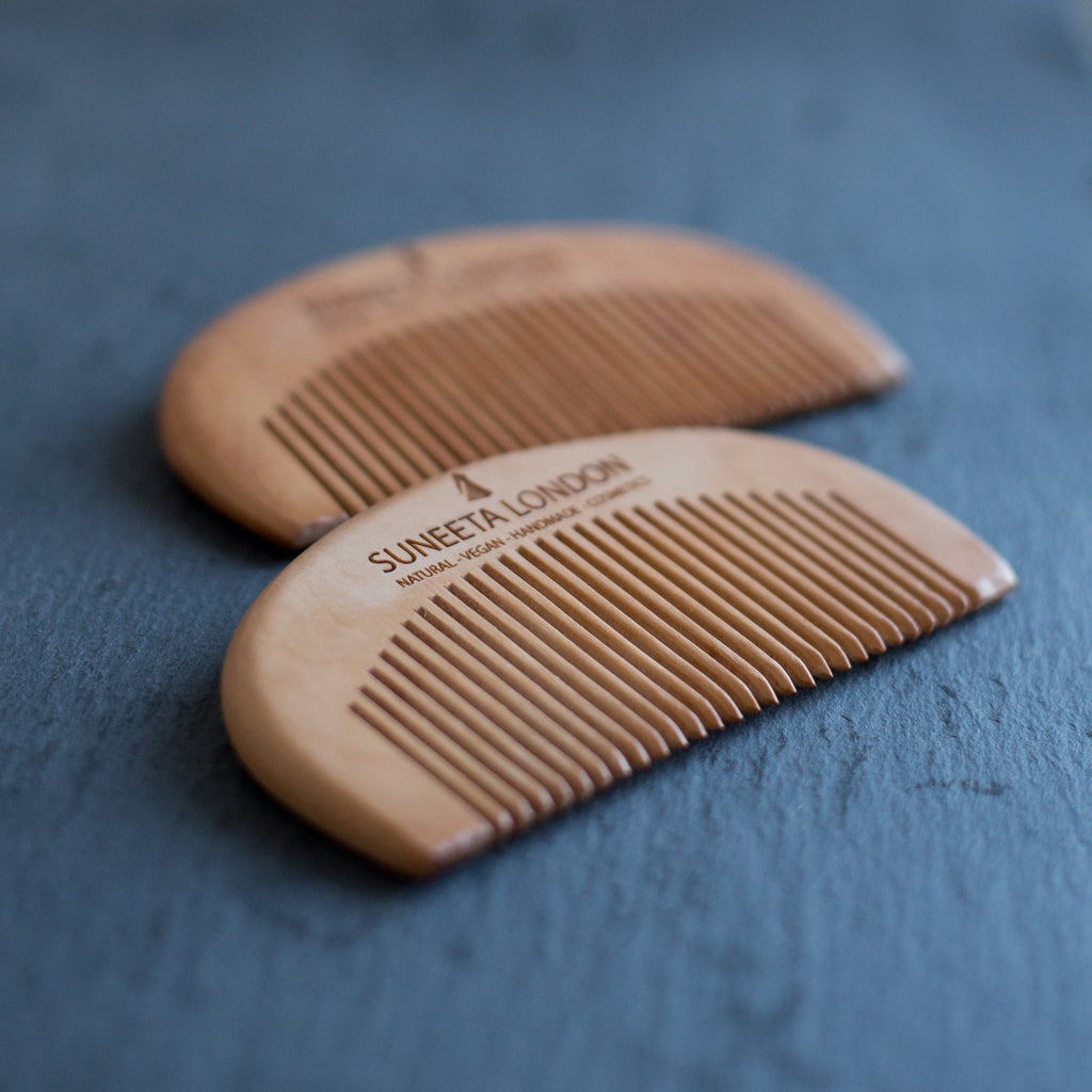 wooden comb, hair comb, sustainable comb, hair, suneeta