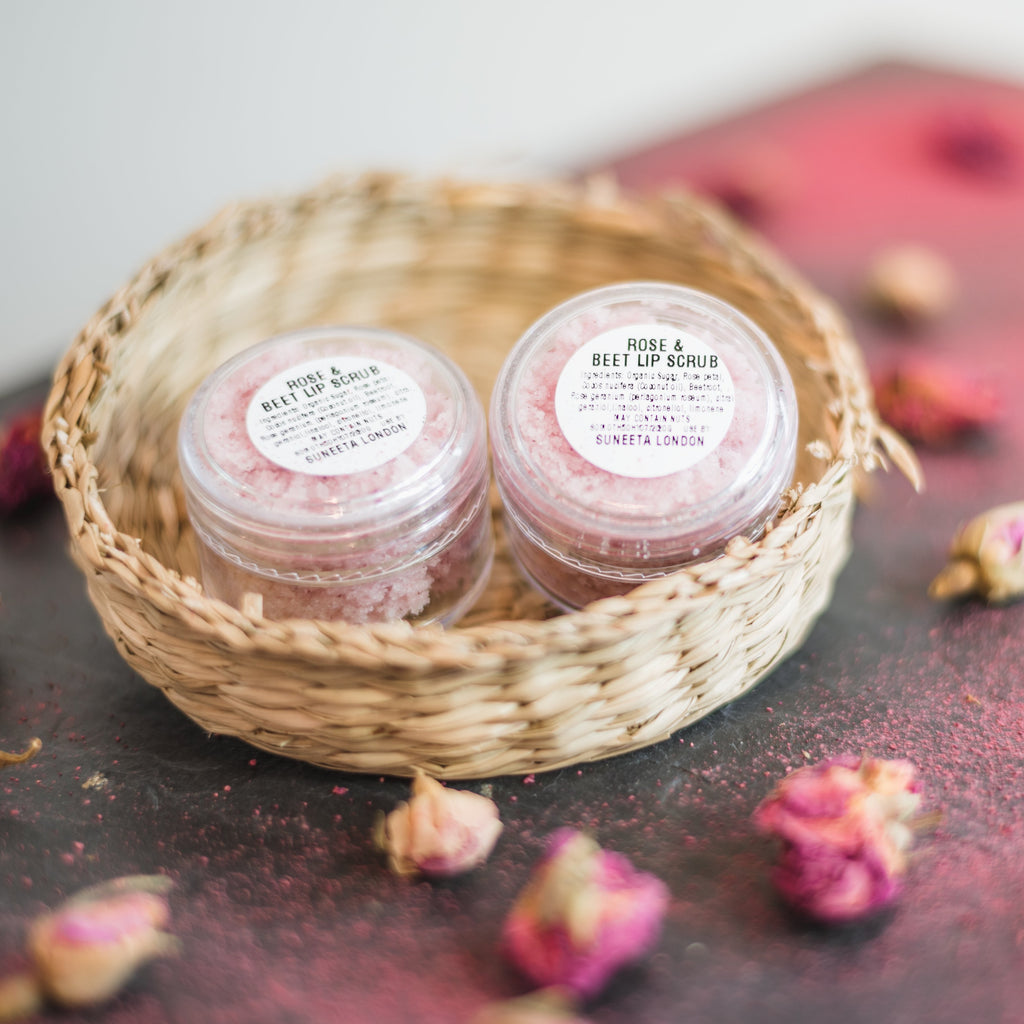 Rose and Beetroot Lip Scrub
