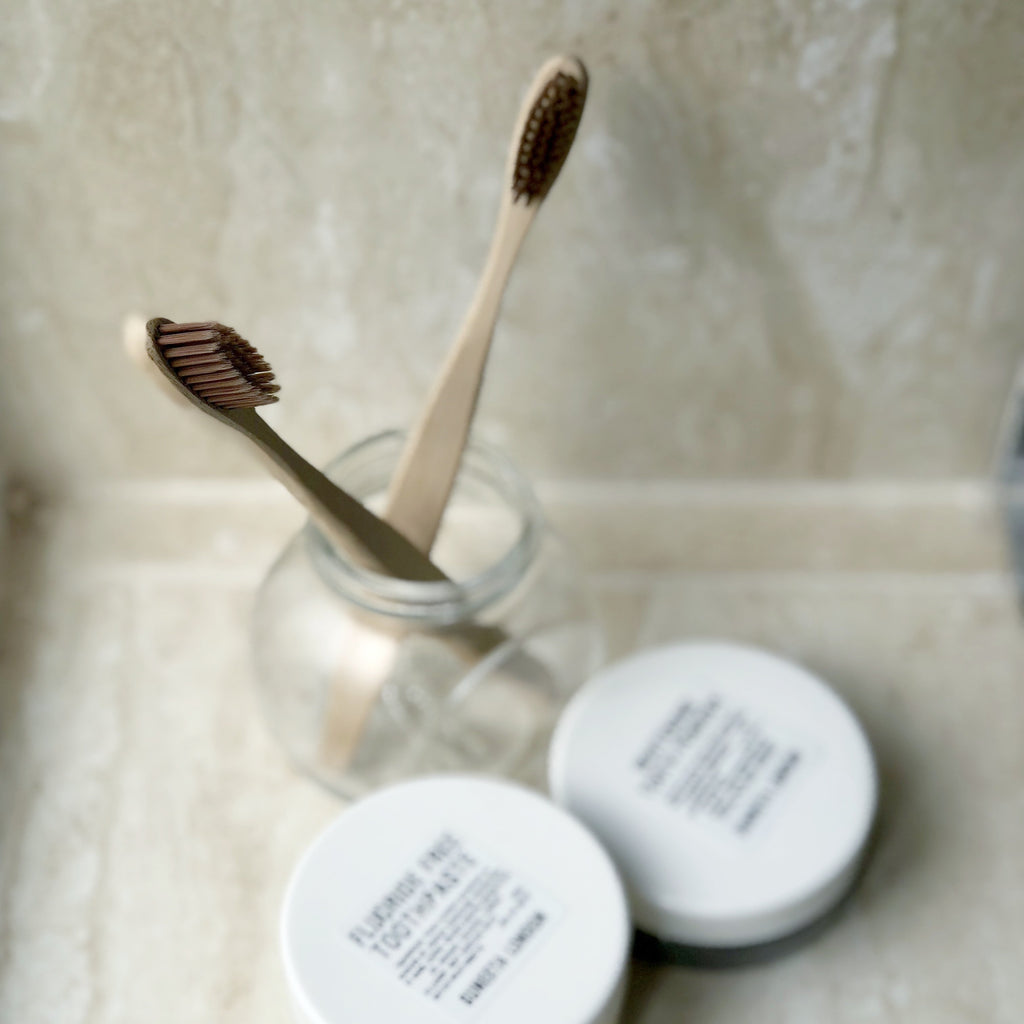 bamboo, bamboo toothbrush, cheap bamboo toothbrush, zero waste, zero-waste, suneeta cosmetics, suneeta, zero waste skincare, zero waste cosmetics, toothbrush, sensitive's teeth brush,