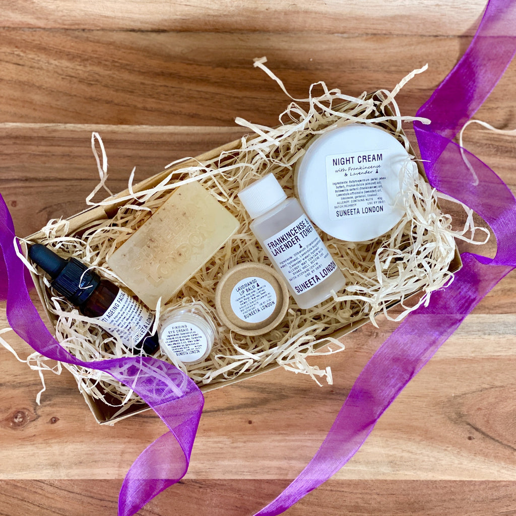 lavender gift set, lavender gift box, lavender, gift set, gift box, gift for her, gift for mum, gift idea, night cream, anti ageing, anti aging, Christmas gift, xmas gift, valentines gift, present idea