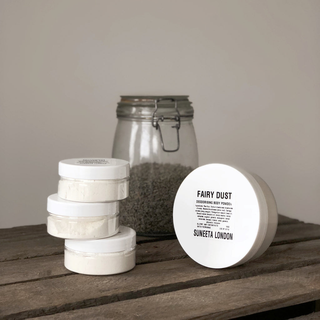natural deodorant, powder deodorant, zero waste deodorant, natural body powder, patchouli deodorant, aluminium deodorant, natural deodorant, sensitive skin deodorant,