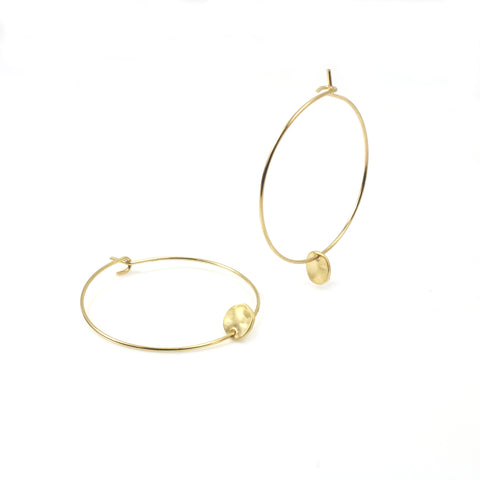 Hoop Earrings with Round