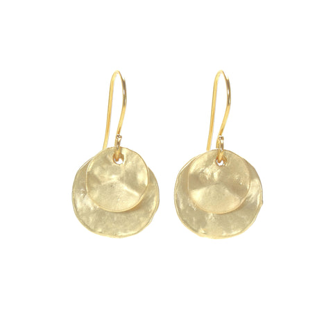 Layered Round Earrings - Medium