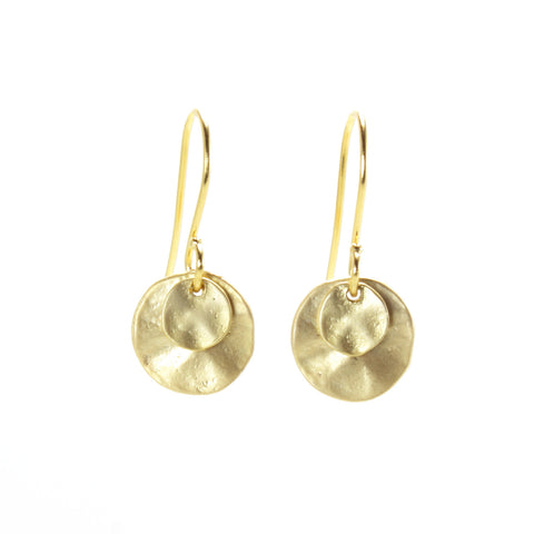 Layered Round Earrings -Small