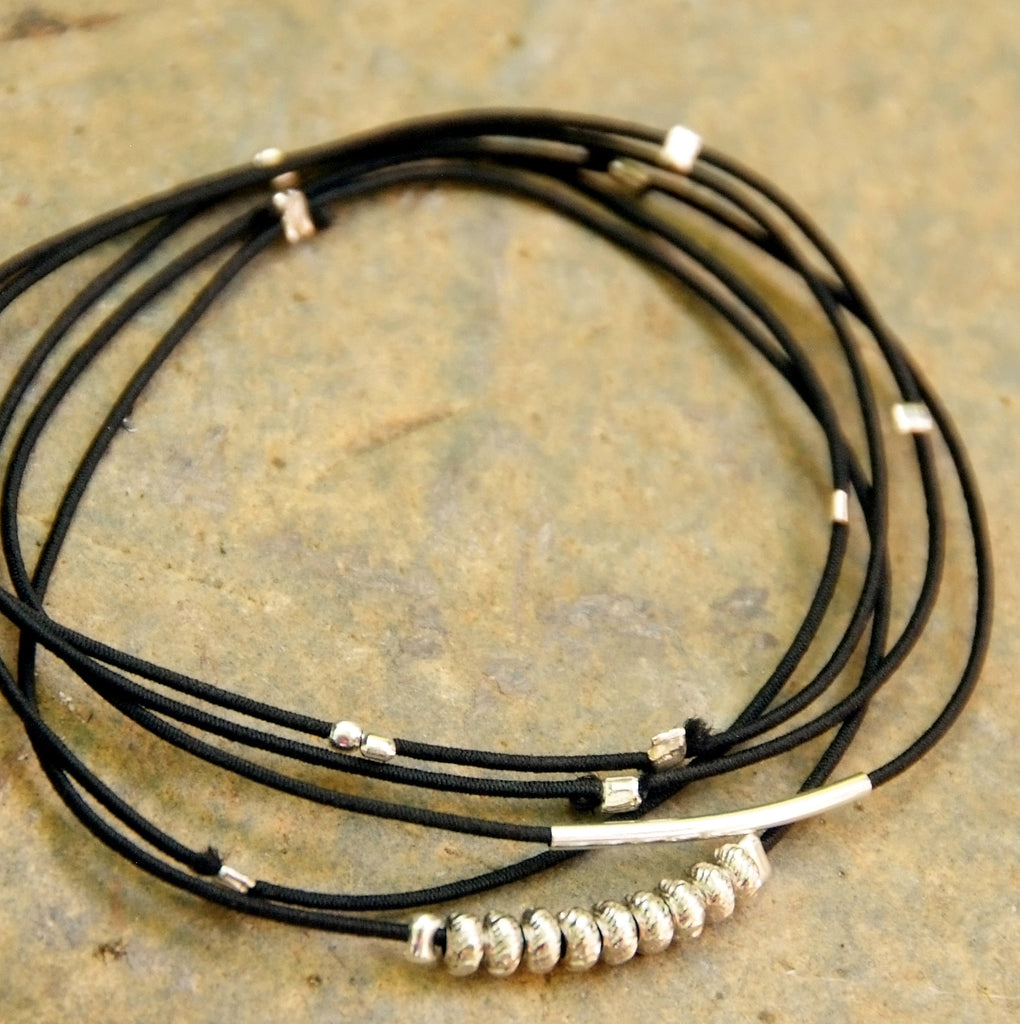 black with multi clasp image spinel products and vermeil bracelet product pyrite strand