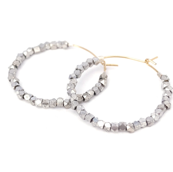 Anjou Beaded Hoop Earrings