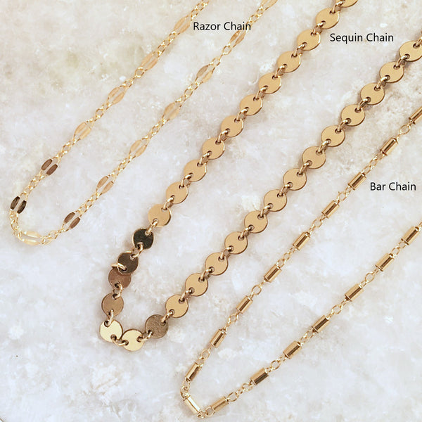 Flat Razor Chain Choker Necklace