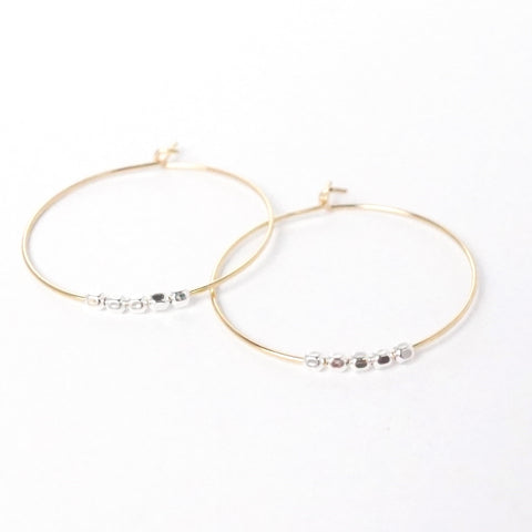 Hoop Earrings with 5 Beads