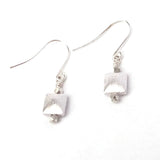 Square Metal Beaded Earrings