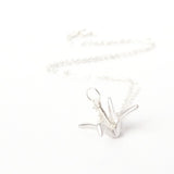 Origami/Paper Crane Necklace