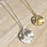 Round Metal Cluster Necklace