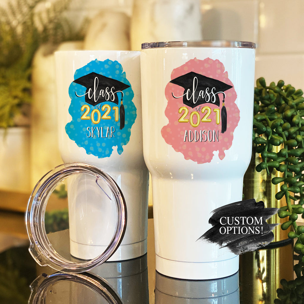 Graduation Stainless Steel Tumblers