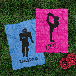 Cheer & Football Blanket