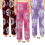 Pajama Lounge Pants, Adult-Boutique Monogram-Boutique Monogram