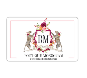 Boutique Monogram Gift Card