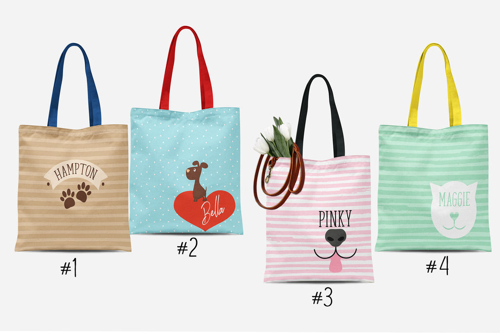 Personalized Pet Tote Bags