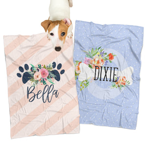 Personalized Pet Blankets, Custom Dog & Cat Blankets, Monogrammed Pet Blanket, Custom Pet Gift, Unique Pet Product, Monogram Pet Accessory