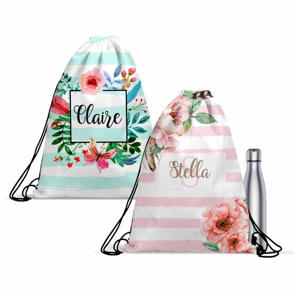Personalized Backpack, Custom DrawString Backpack, Monogrammed Tote Bag, Custom School Bag, Custom Gym Bag, Lightweight Bag, Draw String Bag