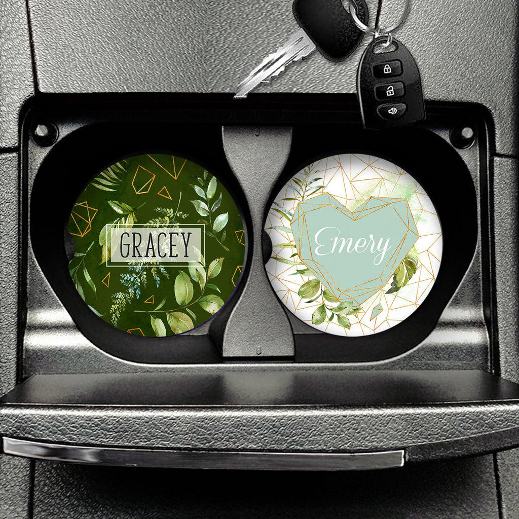 Personalized Car Coasters Set of 2