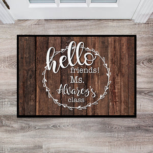 Personalized Teacher Classroom Floor Mat