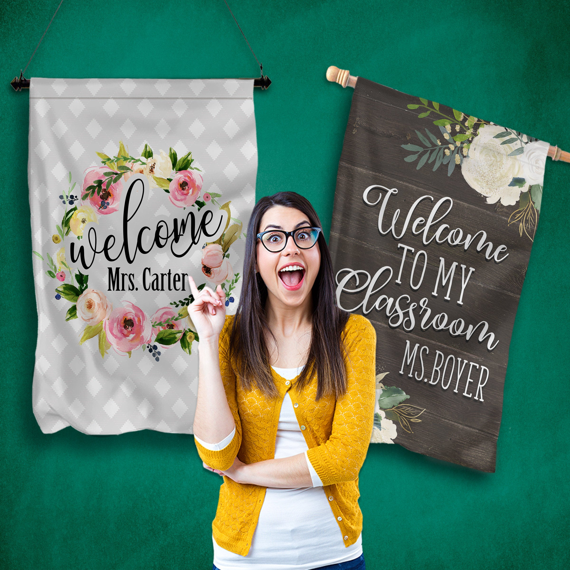 Large Teacher Classroom Flags