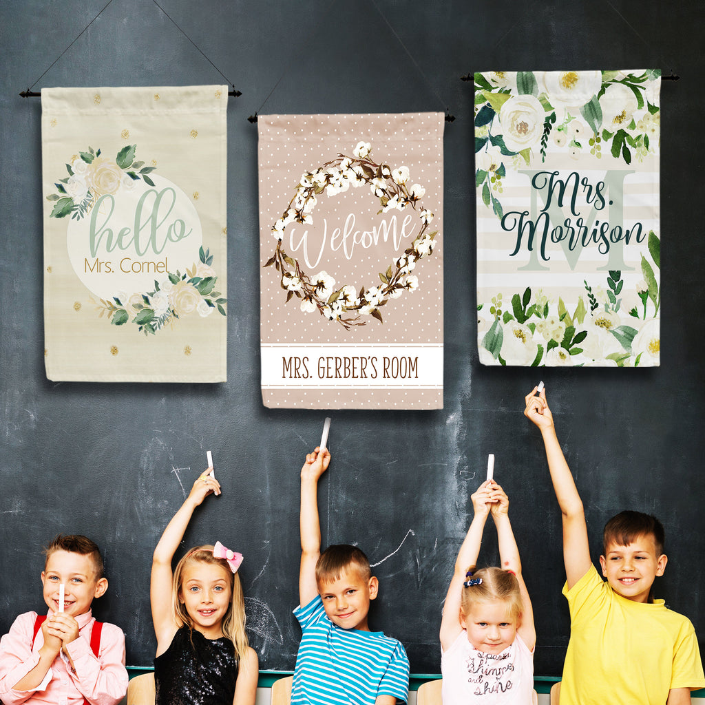 Personalized Teacher Classroom Flags