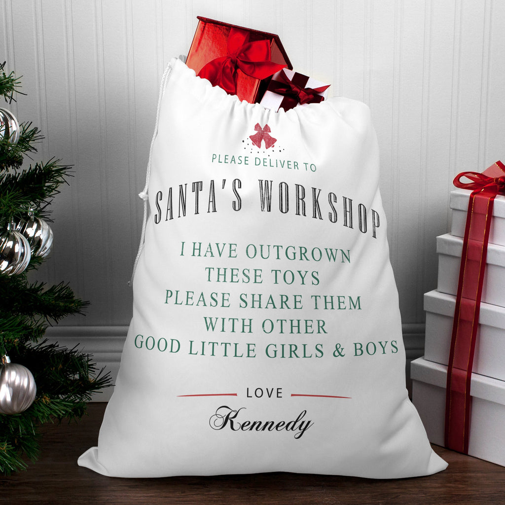 Personalized Give Back Santa Sacks