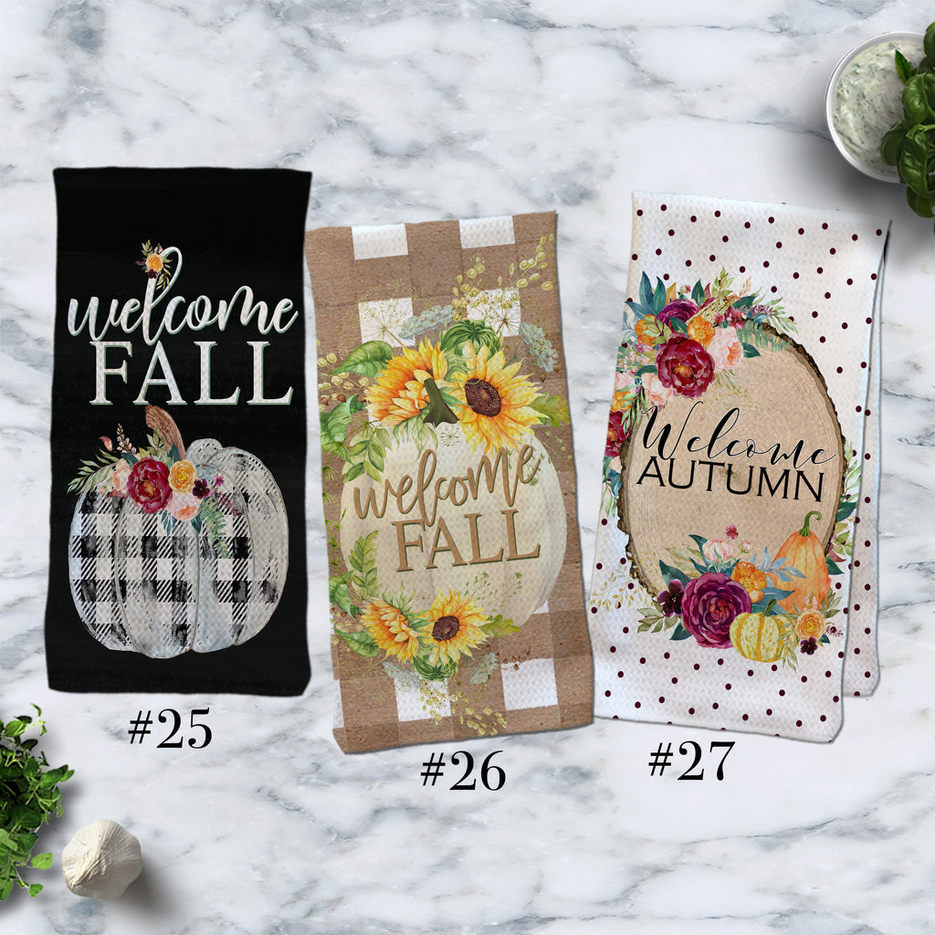 Fall Kitchen Towels