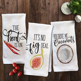 Funny Veggie Kitchen Towels